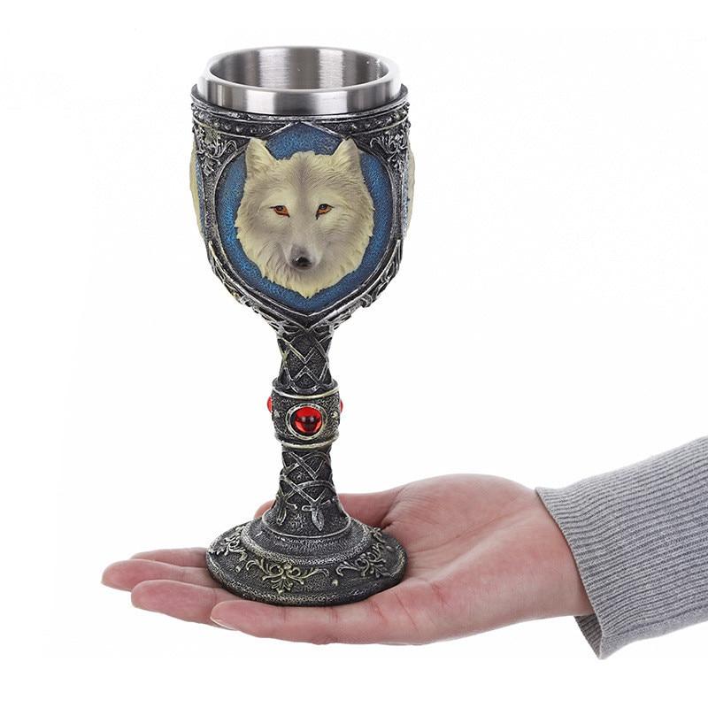 Copa cabeza lobo 3D