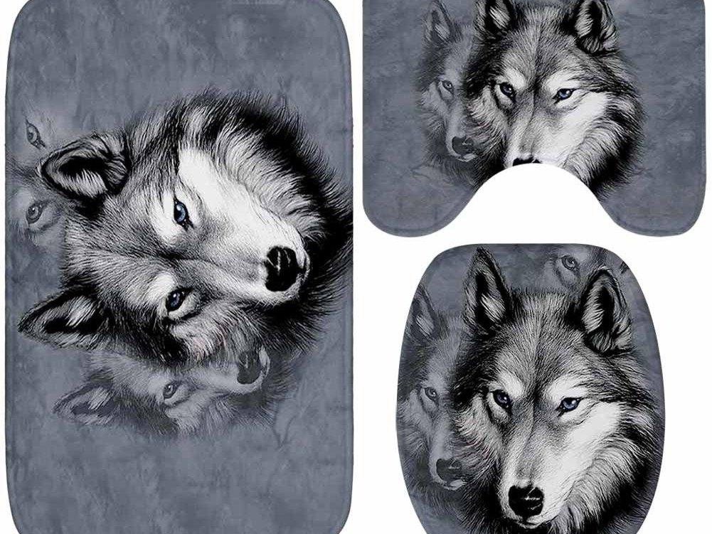 Juego de baño lobos